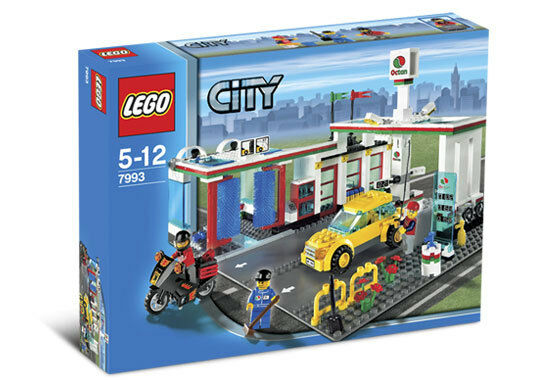 Lego Town City Gas  Station 7993 SERVICE STATION Nuovo Sealed