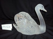 Lalique Crystal SWAN Head Up with Mirror