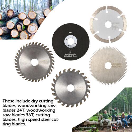 5PCS Saw Blades 36T Steel Wood Working High Speed Dry Cutting Blades 85mm