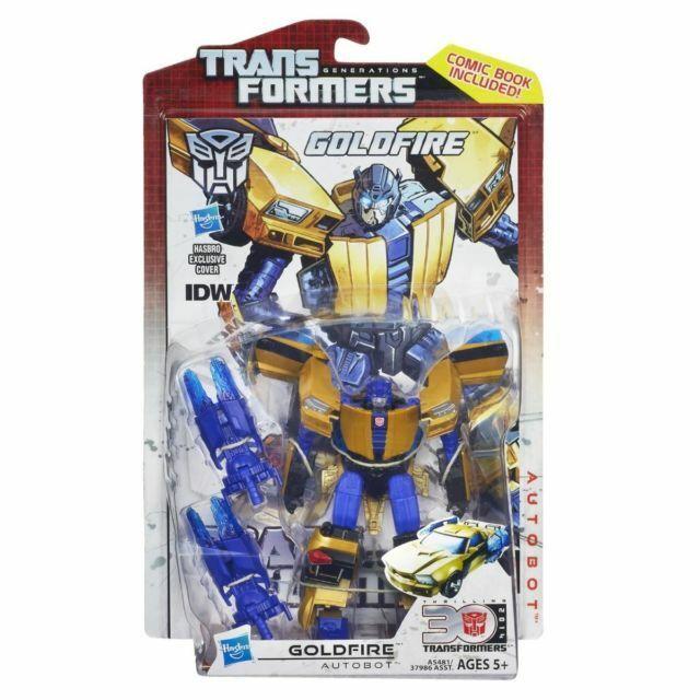 Transformers Deluxe Class ~ GoldFire Figurine ~ 30th ANNIVERSARY HASBRO