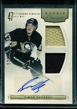 2011-12 Panini Hockey Rookie Anthology Rookie Treasures Simon Despres /499 AUTO