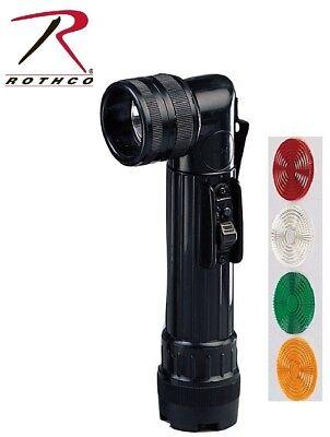 Flashlight OD Green Military Style Angle Head C-Cell Flashlight Rothco 488