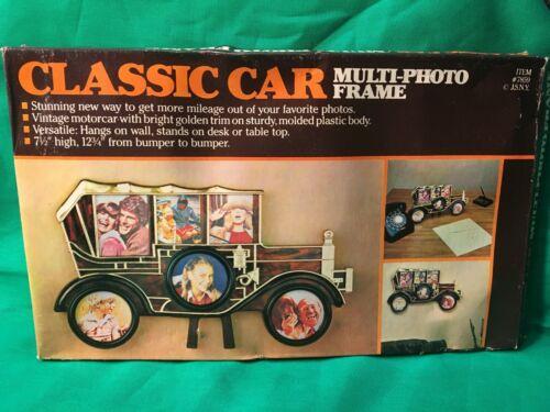 Vintage JSNY Plastic Classic Car Photo Collage frame Antique Automobile