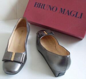 BRUNO-MAGLI-Italian-Designer-Metallic-Ballet-Court-Shoes-EU-36-5-UK-3-5-US-6-5P