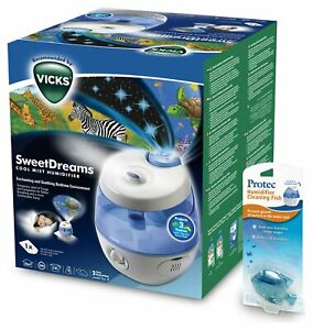 Details about Vicks SweetDreams Ultrasonic Humidifier + free cleaning fish