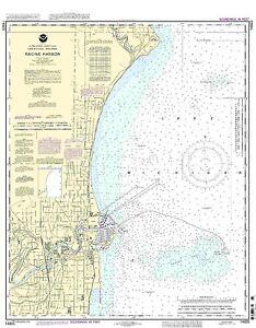 NOAA Chart Racine Harbor 23rd Edition 14925