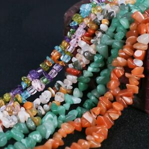 Natural-Gemstone-Chips-Beads-For-Jewelry-Making-34-034-15-034-Bulk-in-Lots-Freeform