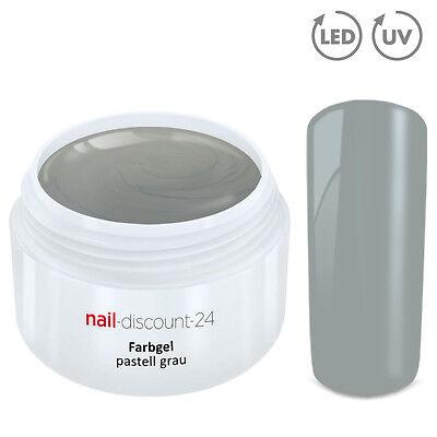 UV Farbgel PASTELL Gel grau 5ml French Color Modellage Nailart Naildesign