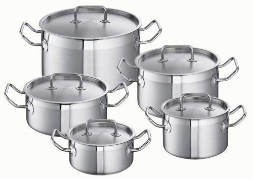 Schulte rives sus Lot de casserole cuivre sol induction en inox pro line 5 pièces