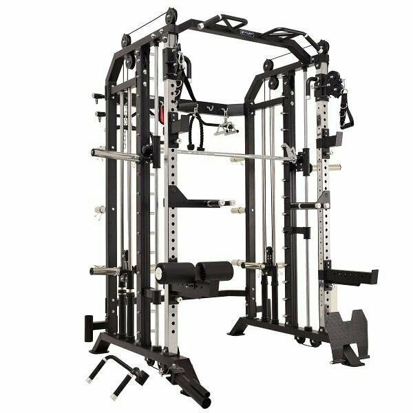 Multifunction Fitness Equipment 3 in 1 Combo Power Rack With Smith Machine Function