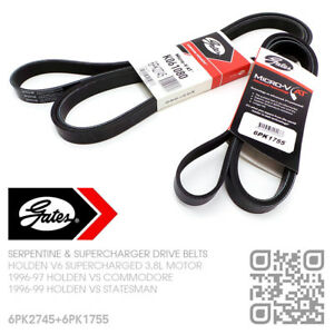 GATES-DRIVE-BLOWER-BELTS-V6-L67-SUPERCHARGED-3-8L-HOLDEN-VS-COMMODORE-STATESMAN