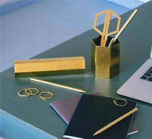 Hex-Schreibtisch-Utensilien-DOIY-Hexagon-Sechseck-Kuli-Halter-Box-Schere-Lineal