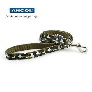 Ancol-Perro-Cachorro-Cable-Camuflaje-Resistente-a-la-Intemperie-1m-X-19mm-Rosa
