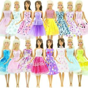 10-Pcs-Doll-Dress-Wedding-Party-Mini-Gown-Fashion-Clothes-For-Barbie