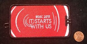 ORDER-OF-THE-ARROW-BSA-NOAC-2015-OA-100TH-CENTENNIAL-PATCH-LUGGAGE-NAME-TAG-MINT