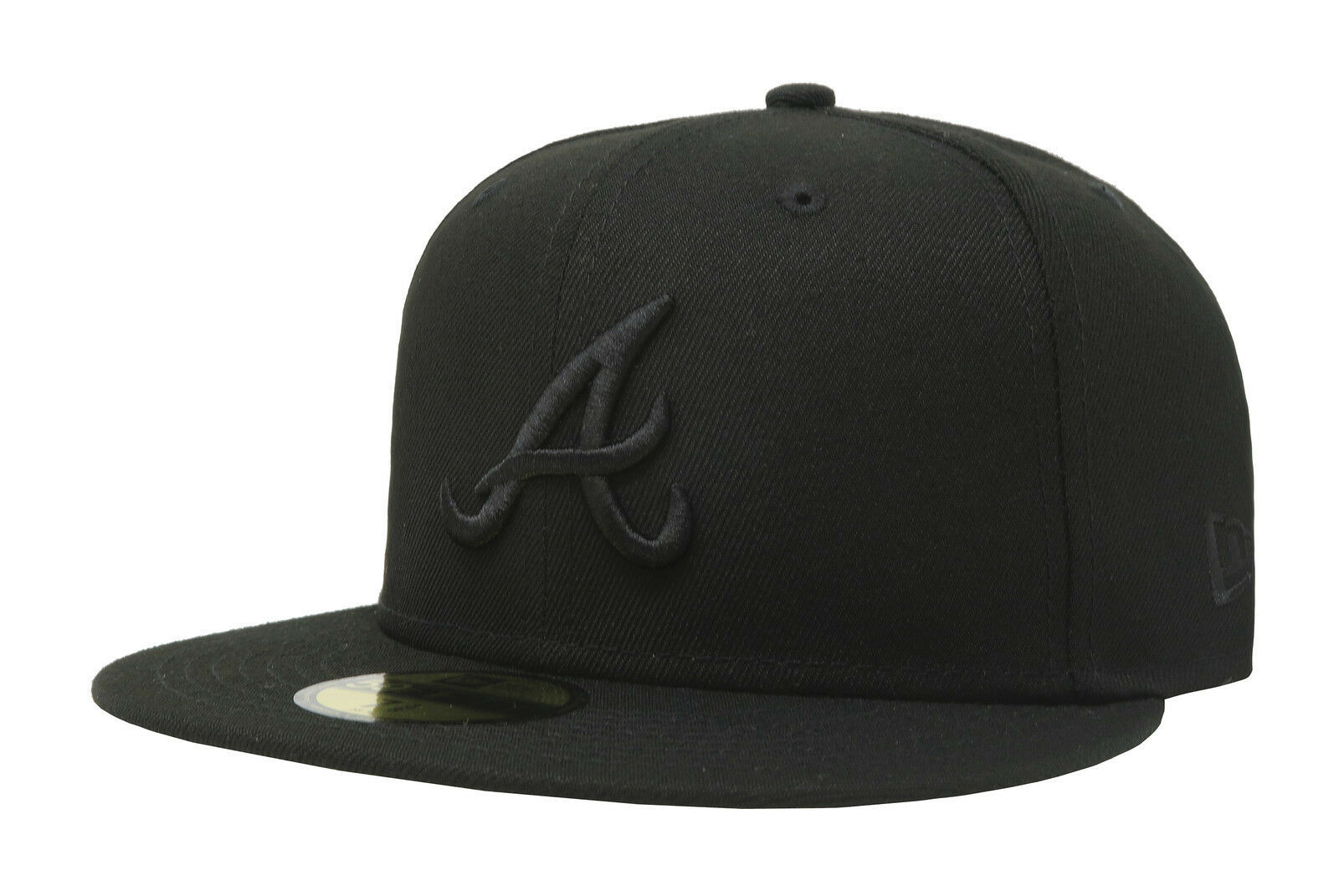 New Era 59Fifty Cap MLB Atlanta on Braves Mens Adult Black on Atlanta Black Fitted 5950 Hat 39d699