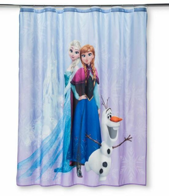 *NEW* Disney Frozen Elsa Anna and Olaf Shower Curtain 72 In X 72 In