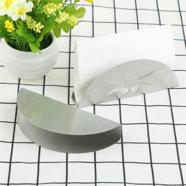 Fächerförmige Sector Edelstahl Serviettenhalter Tissue Boxen TischdekoratioRSDE