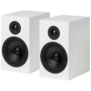 Pro -Ject Bookshelf Speakers Box 5 (White) NEW