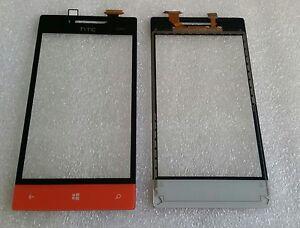 VETRO-TOUCH-TOUCHSCREEN-DIGITIZER-LENTI-VETRO-ARANCIONE-PER-HTC-WINDOWS-PHONE-8S