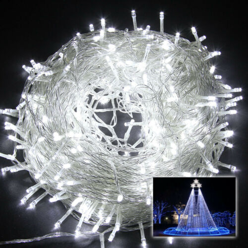 Connectable White 33FT 100 LED Fairy String Lights Xmas Wedding Party Tree Lamp