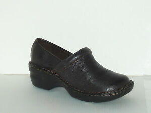 Bass-Cocoa-Brown-Leather-womens-Clog-Size-8
