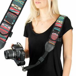 Adjustable-Neoprene-Digital-Camera-Strap-with-Safety-Strap