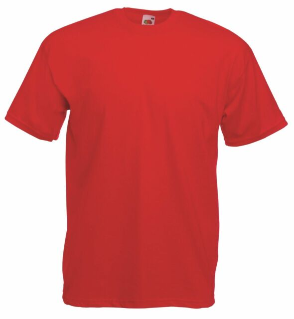 cb296073 Fruit of The Loom Value T-shirt Ss6 Red XL | eBay