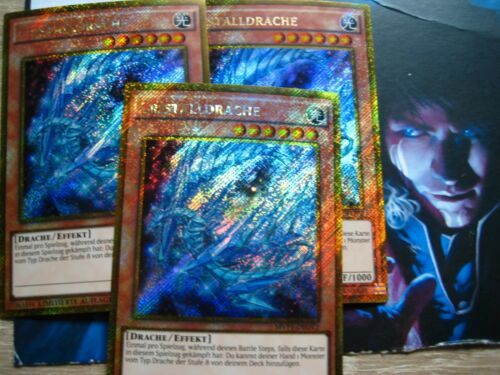 Cristalldrache MVP1-DEGV2 Gold Secret Rare PROMO Artwork YU-GI-OH playset oder1x