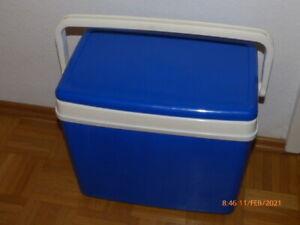 blaue Kühlbox mit Icepacks - 38 x 47 x 26cm