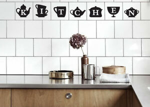 KITCHEN Tile Transfers stickers for Kitchen to fit 4\