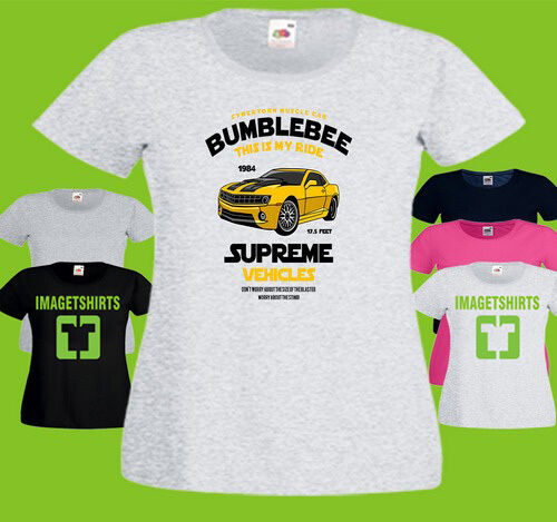 Bumblebee Ladies PRINTED T-SHIRT Transformer Transformers Autobot Car Muscle