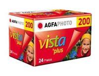 5 Rolls Agfa Vista Plus Iso 200 35mm Color Print Film 24 Exp. Agfaphoto 2/2017