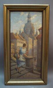 Ada VON DER PLANITZ (1880-1936 Meran Südtirol)  Junge Frau Dresden Frauenkirche