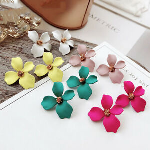 2019-New-Boho-Painting-Big-Flowers-Ear-Stud-Earrings-Women-Charming-Jewelry