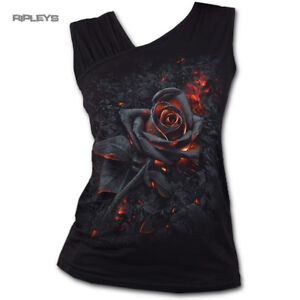 SPIRAL-DIRECT-Ladies-Black-Goth-BURNT-ROSE-Fire-Slant-Vest-Top-All-Sizes