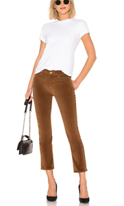 NWT FRAME 'Le High Ankle Straight Corduroy Pants' in Warm Tan -Sz 25