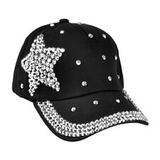 Chic Men Women Crystal Star Baseball Cap Snapback Visor Sport Sun Adjustable Hat