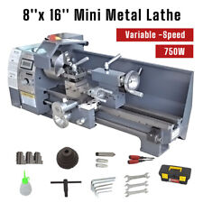 750w Mini Metal Lathe Bench 50 2500rpm Woodworking Variable Speed 8x 16