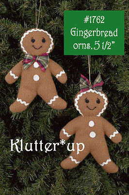 """1269 Bearington Gingerbread Pack-Ginger Boy Orn /""""Cookie/"""" 5/"""" Christmas 2011-NEW"""