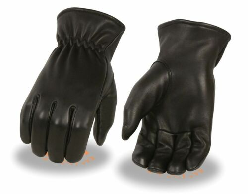 Black DEERSKIN Thermal Lined Leather Gloves Military Driving Motorcycle Biker