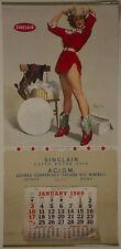 Vintage 12 Month 1960 Large Calendar Gil Elvgren Something New Pin Up Cowgirl