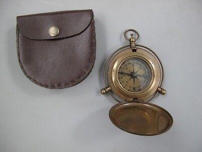 Kompass mit Springdeckel Messing brüniert Taschenkompass Boot Schiff  244.106