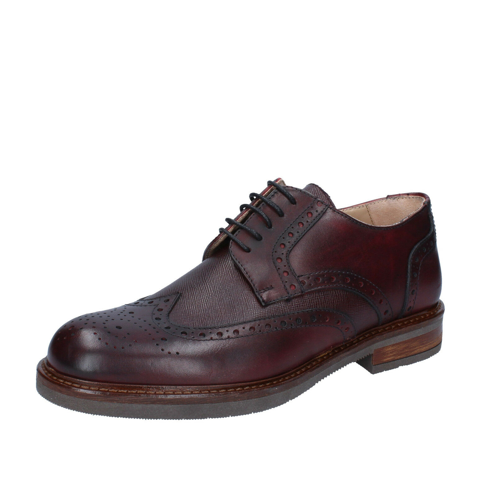 men's shoes FDF SHOES 8 () elegant burgundy leather BZ393-C