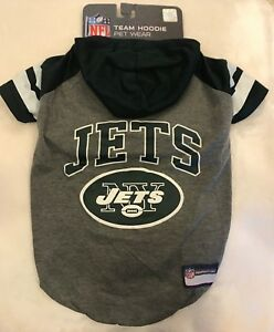 65503ab22a5 New York Jets Dog Shirt - LARGE - Hoodie - Official NFL - Gray ...