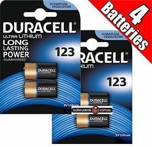 4-Duracell-Ultra-Lithium-CR123-3V-Camera-Photo-Battery-CR123A-EL123-CR17345