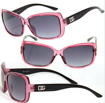 New Women Square Black Shade Lens Fashion Designer Sunglasses - Burgundy DG131