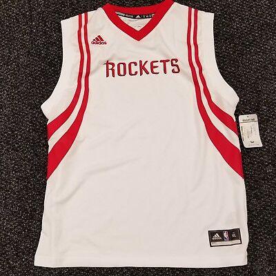 the best attitude a8736 9032b NBA Adidas Youth Houston Rockets Blank Replica Jersey- White & Red XL Kids  Boys   eBay