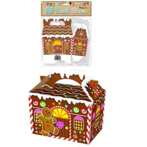 CHRISTMAS-GINGERBREAD-HOUSE-BOX-PAPER-BAG-PARTY-FOOD-BOXES-XMAS-EVE-SWEETS-TREAT