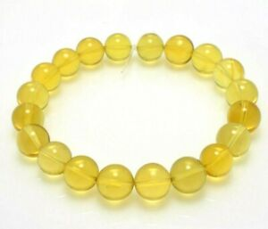 TOP-QUALITY-Dominican-Amber-BRACELET-Beads-GENUINE-Gem-Stone-10-12mm-12-2-G-A626